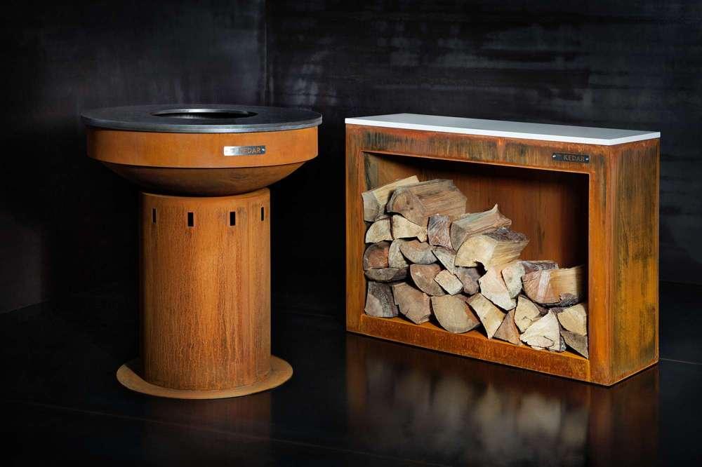 Corten skříň na dřevo - Technistone